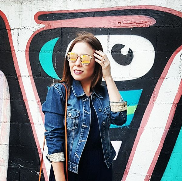 Jumpsuit style and Denim jacket