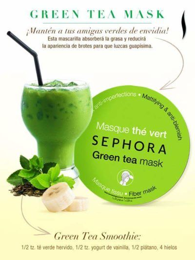 Sephora Green Tea Mask & Smoothie