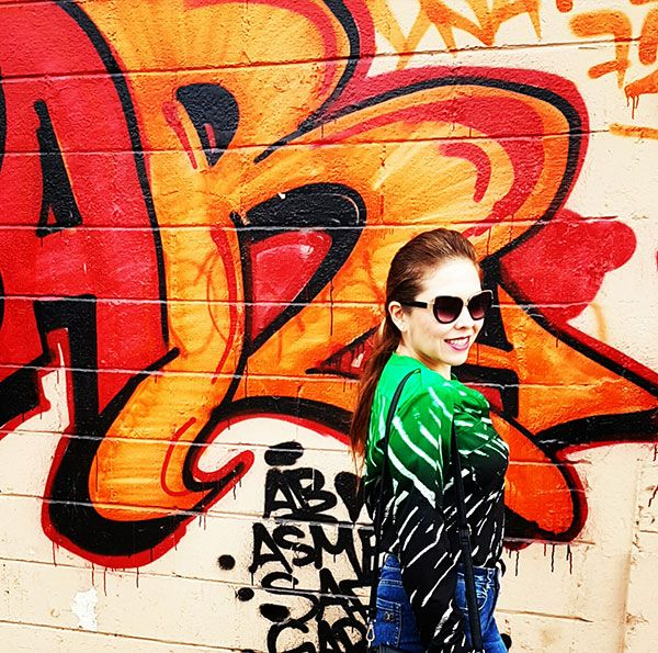 Grafitti, Green color trend, Calvin Klein blouse