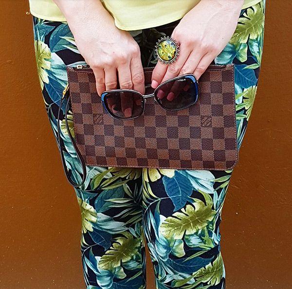 Leaf leggins, spring outfit