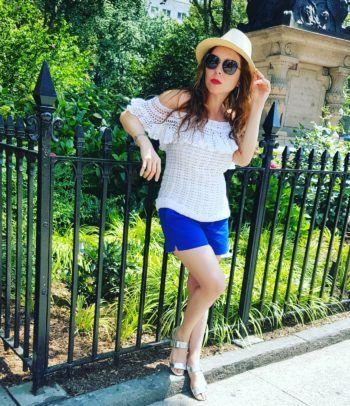 Outfit perfecto para el verano, Blusa Blanca en Crochet (tejida)