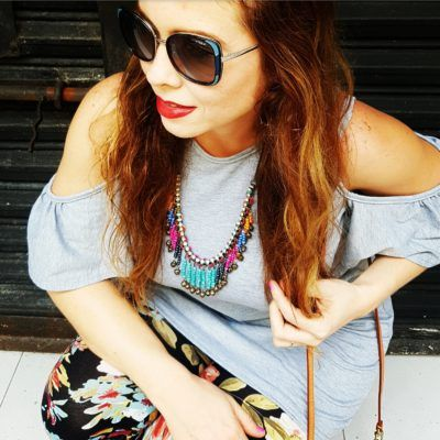 Vogue eyewear sunglasses, Off shoulder top-dress