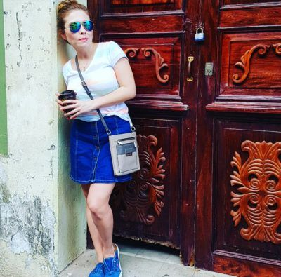 DENIM casual outfit, Skirt & Tenis