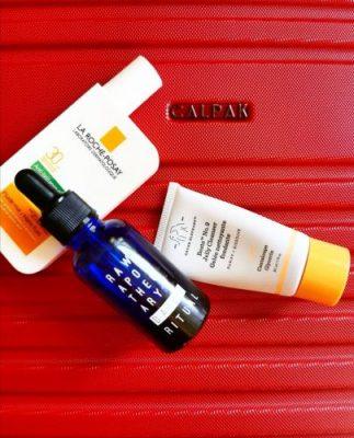 Aceite facial de Raw Apothecary, Protector solar de La Roche Posay, Limpiador facial de Drunk Elephant
