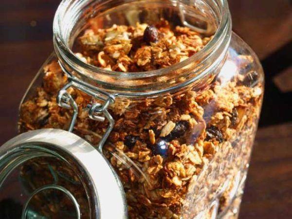 Granola casera hecha en casa