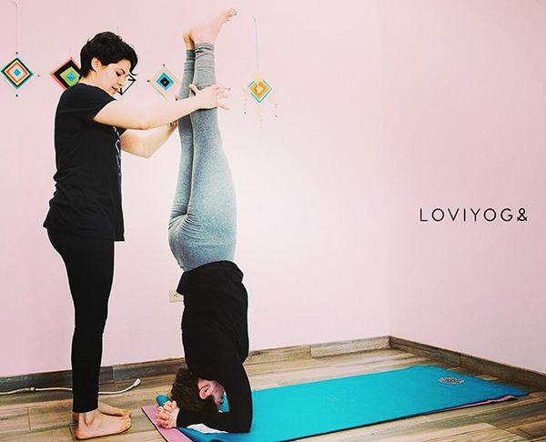 Yoga practice, wake up session